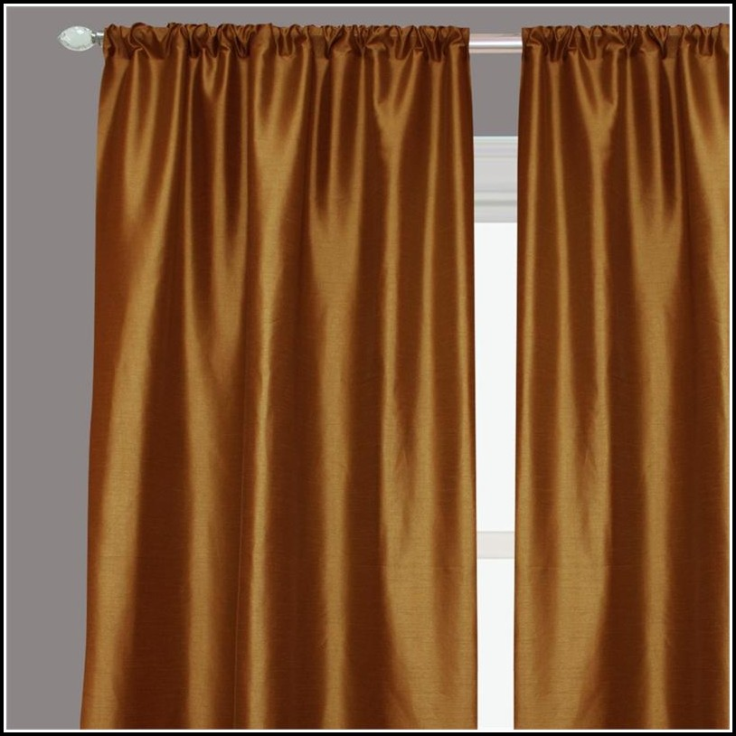 Faux Dupioni Silk Curtain Panels