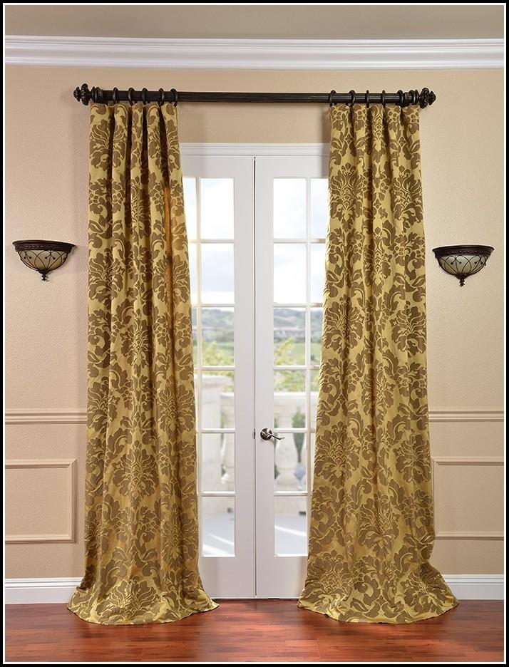 Gold Faux Silk Curtains Target