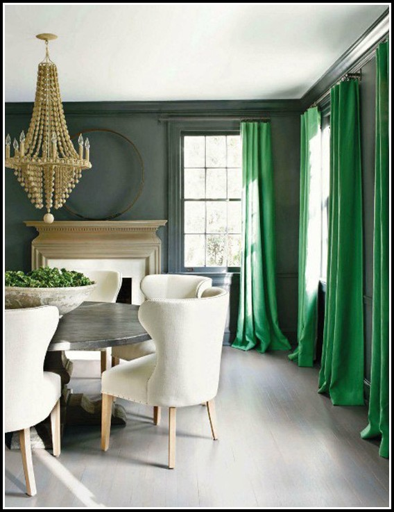 Gray And Green Curtains