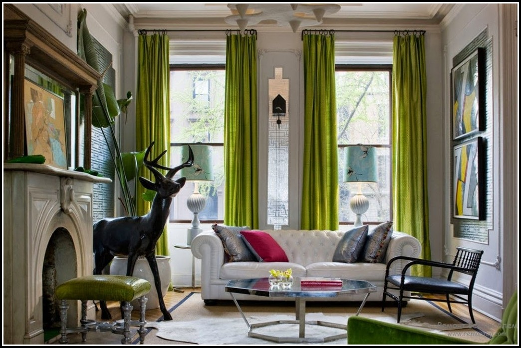 Grey And Lime Green Curtains