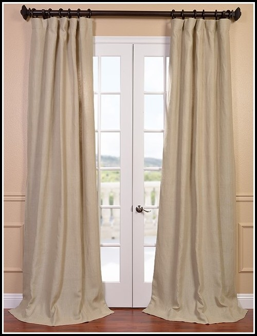 Grey Linen Tab Top Curtains