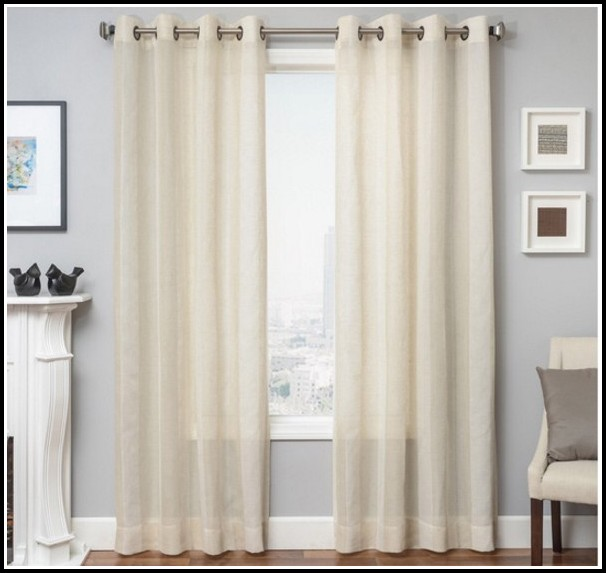 Grommet Top Sheer Linen Curtains