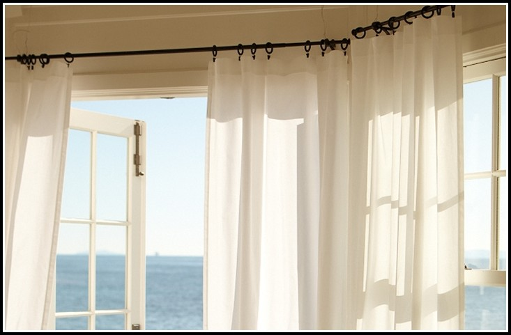 Hanging Rod Pocket Curtains With Clips