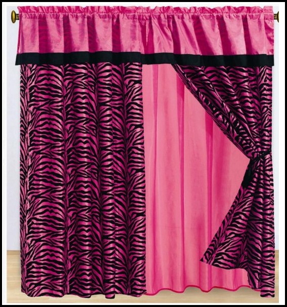 Hot Pink And Black Zebra Curtains