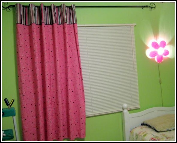 Hot Pink And White Polka Dot Shower Curtain