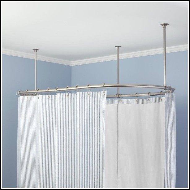 How To Hang White Metal Curtain Rods
