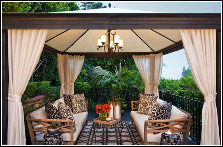 How To Make Outdoor Curtains For Gazebo