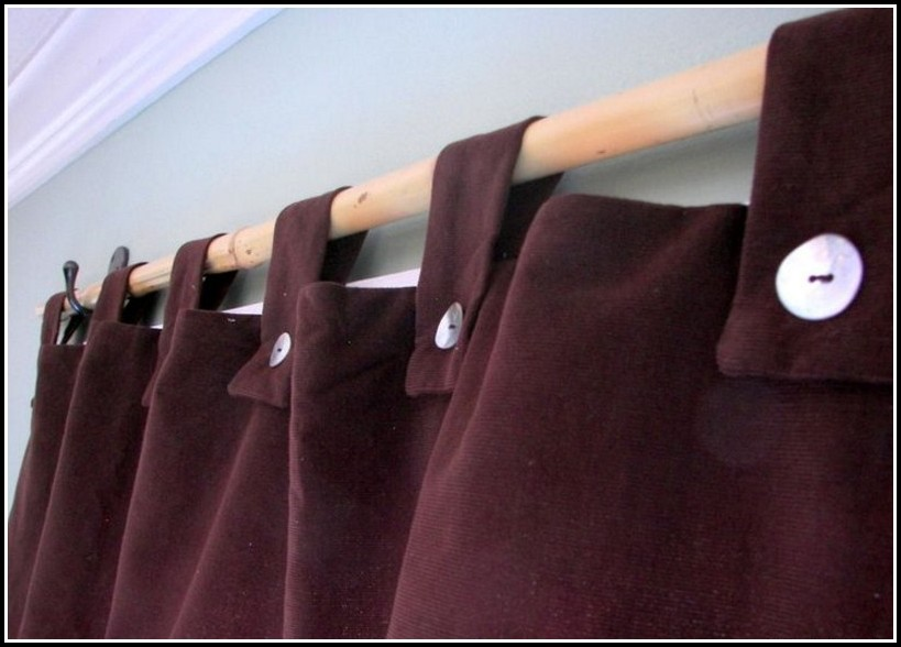How To Make Tab Curtains With Buttons