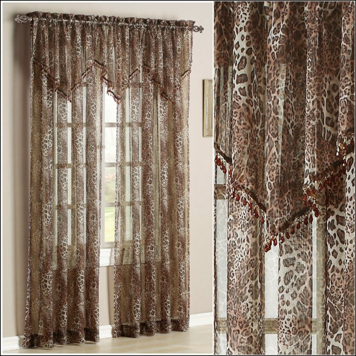 Leopard Print Sheer Curtains