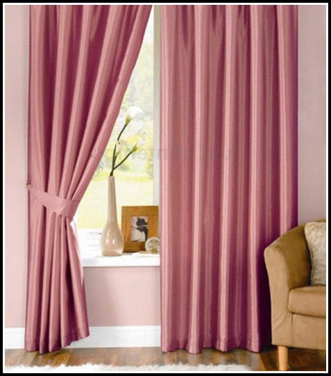 Light Pink Faux Silk Curtains