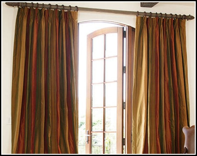 Olive Green And Gold Curtains