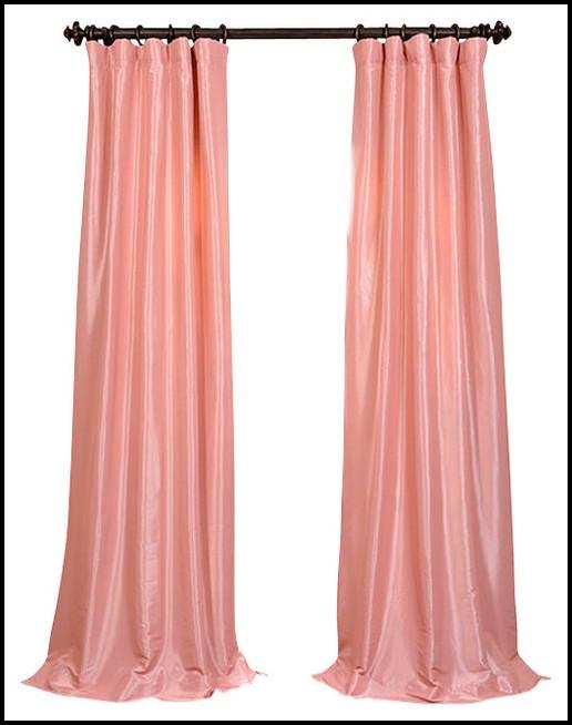 Pale Pink Faux Silk Curtains