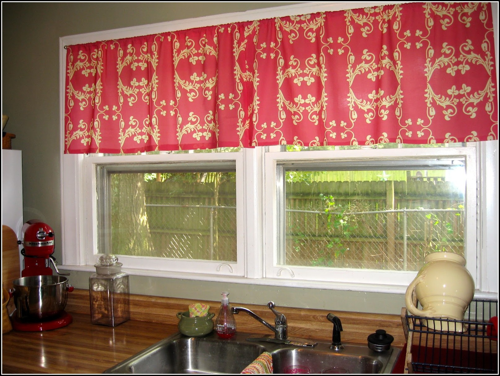 Pink And Yellow Kitchen Curtains