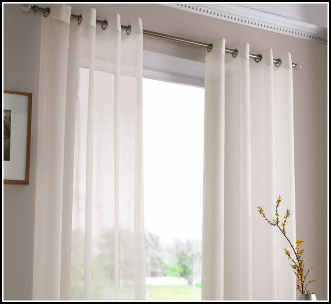 Pottery Barn White Tie Top Curtains