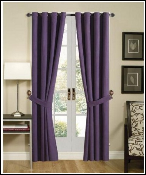 Purple Bed In A Bag With Matching Curtains