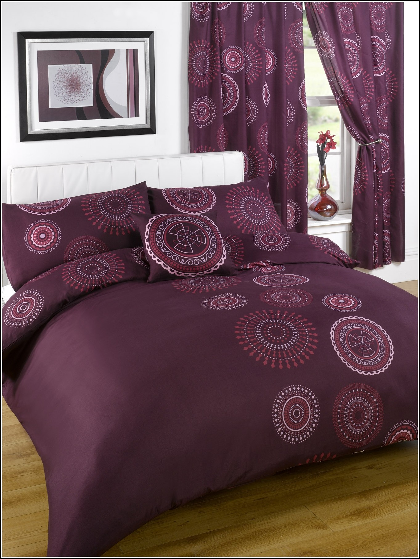 Queen Bed In A Bag With Matching Curtains