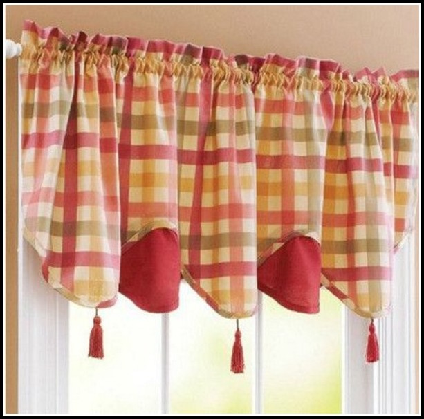 Red And Green Striped Curtains