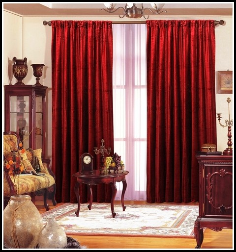 Red Velvet Home Theater Curtains