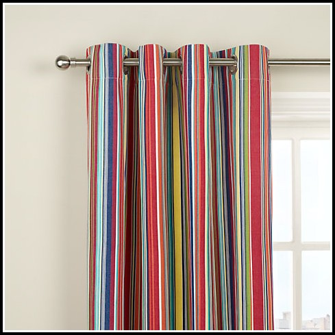 Red White And Blue Striped Curtains