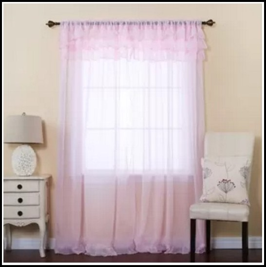 Rod Pocket Semi Sheer Curtains