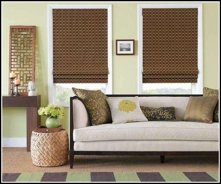 Roman Shades And Matching Curtains