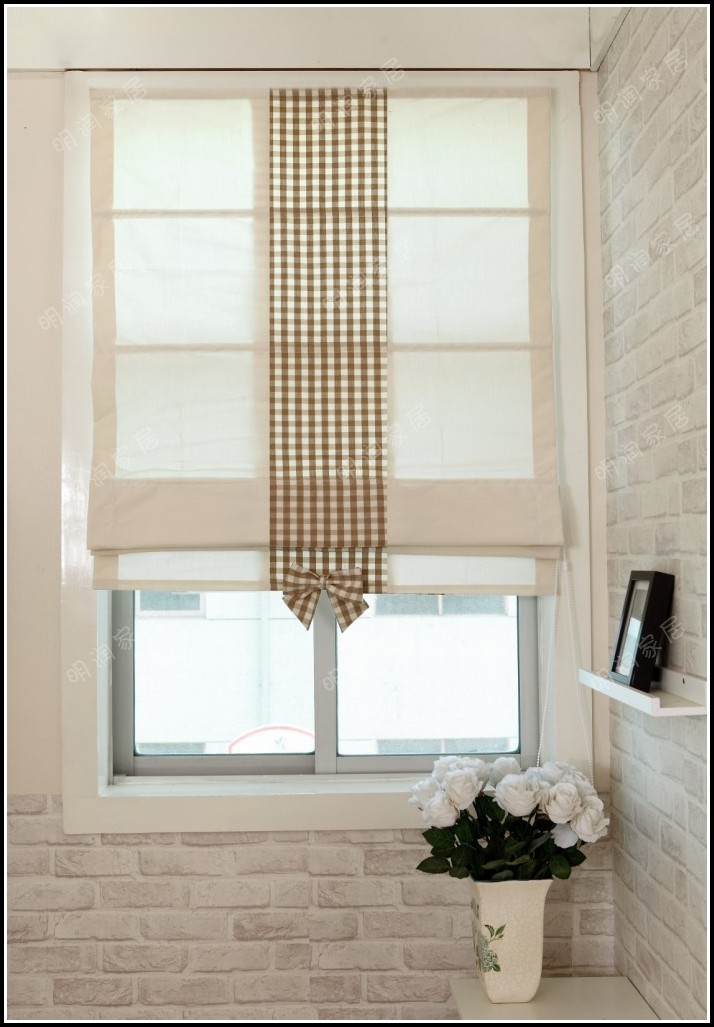 Roman Shades And Sheer Curtains
