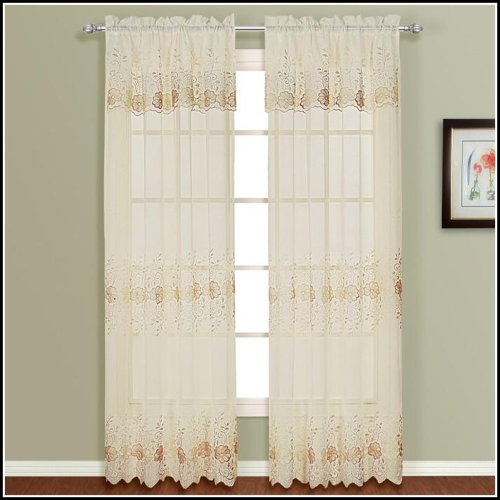Sheer Curtain Panels And Valances