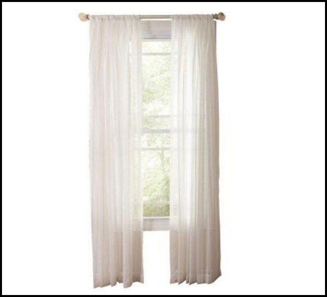 Sheer Double Rod Pocket Curtains