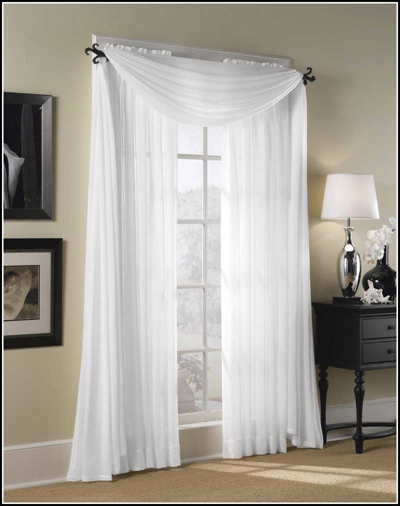 Sheer Linen Rod Pocket Curtains