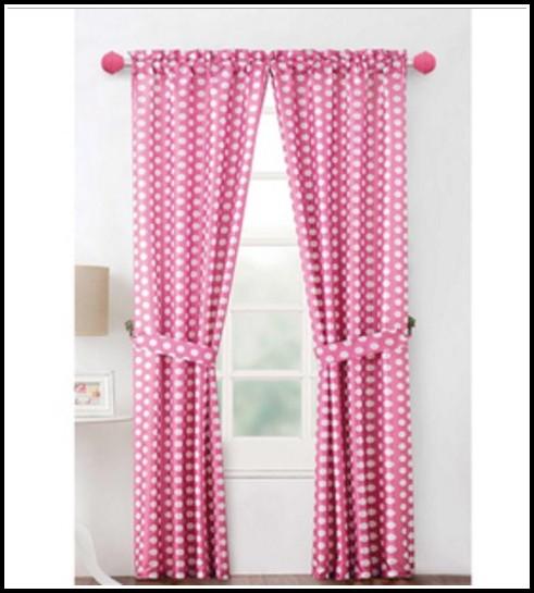 Sheer Pink Polka Dot Curtains