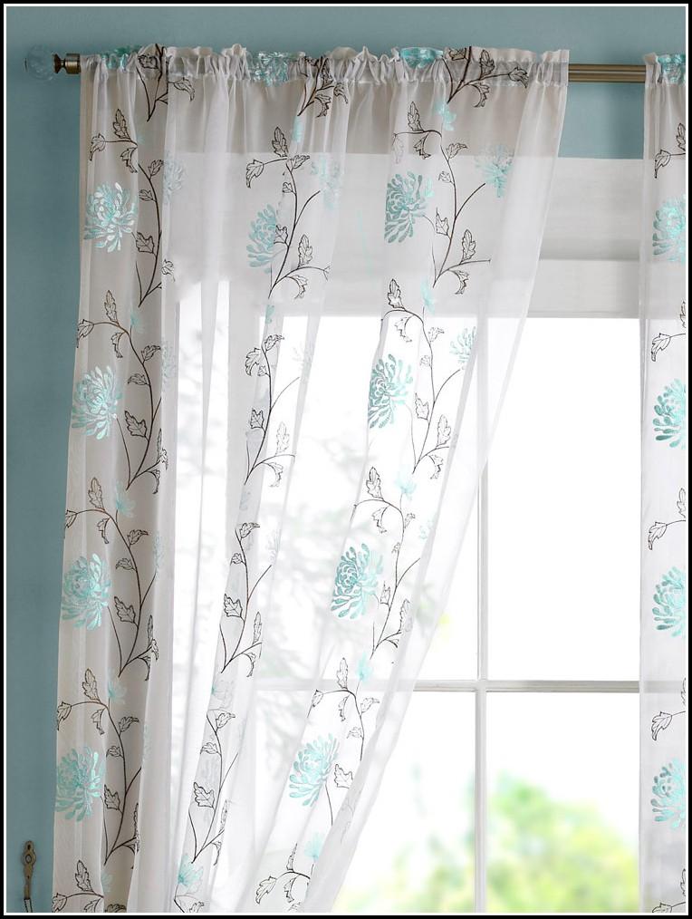 Slate Blue Faux Silk Curtains