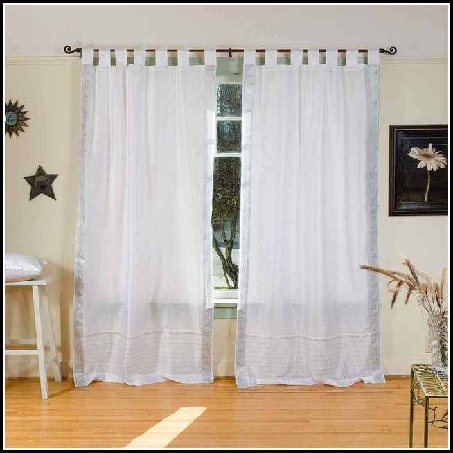 Tab Top Cafe Curtains White