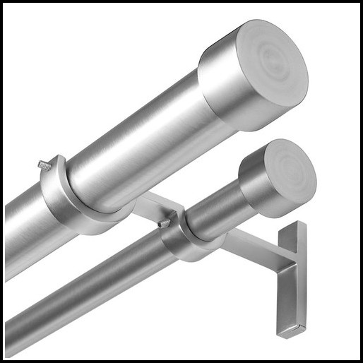 Umbra Double Curtain Rod Nickel