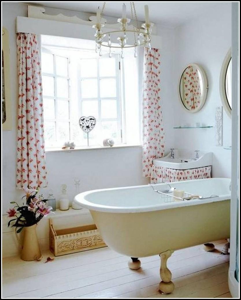 Westerly White Bathroom Window Curtain Pair