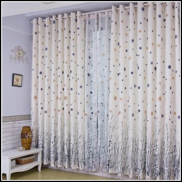 White On White Polka Dot Curtains