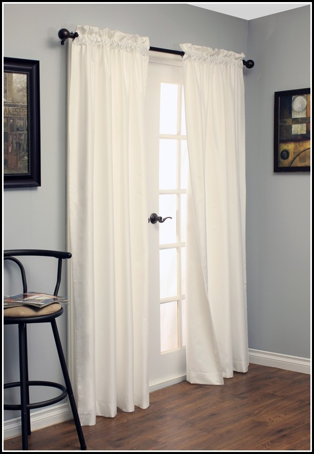 White Rod Pocket Blackout Curtains