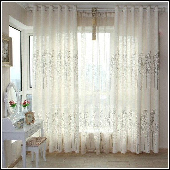 White Sheer Pinch Pleat Curtains