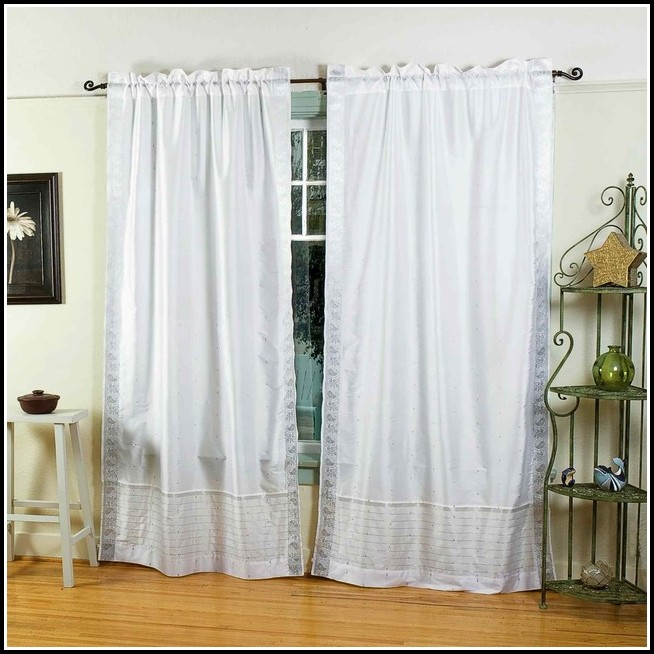 White Sheer Rod Pocket Curtains
