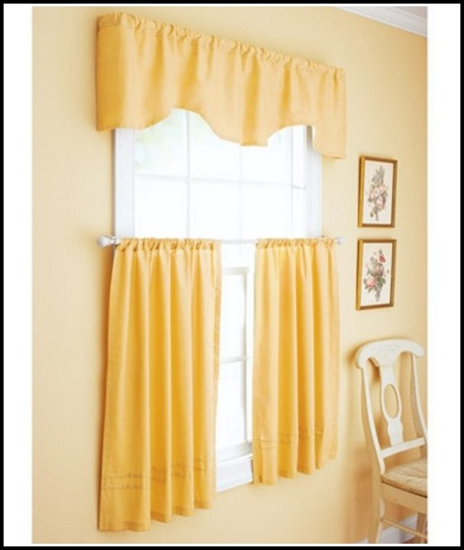 Yellow Kitchen Curtains Valances