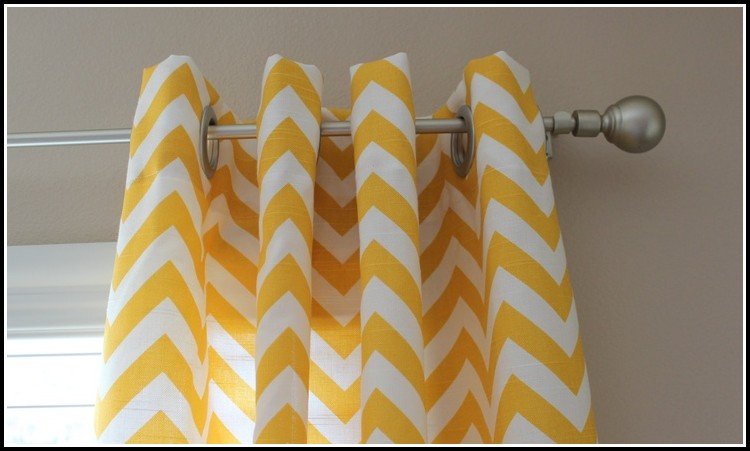 Yellow Zig Zag Curtain Panels
