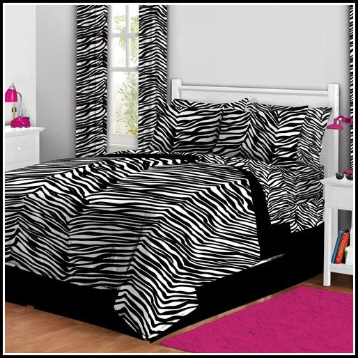 Zebra Bedding Set With Curtains