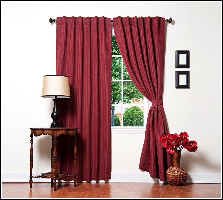 Best Home Fashion Pinstripe Thermal Insulated Blackout Curtain