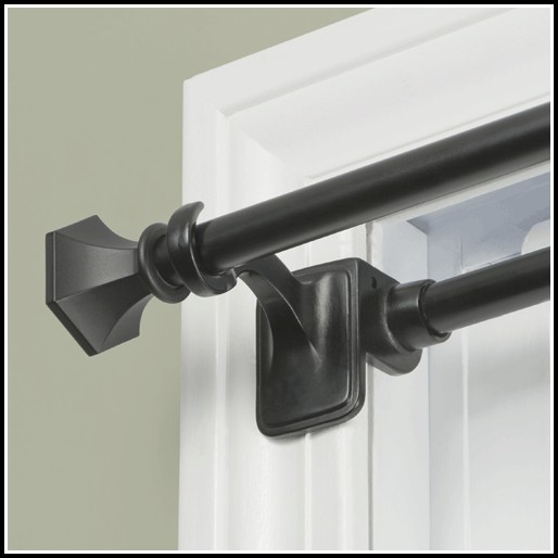 Black Tension Curtain Rods