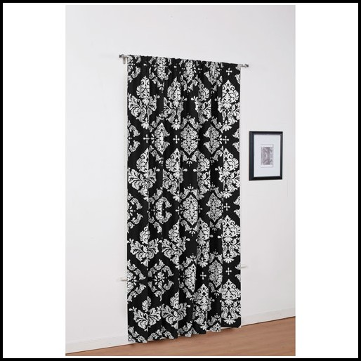 Black White Checkered Curtain Panels