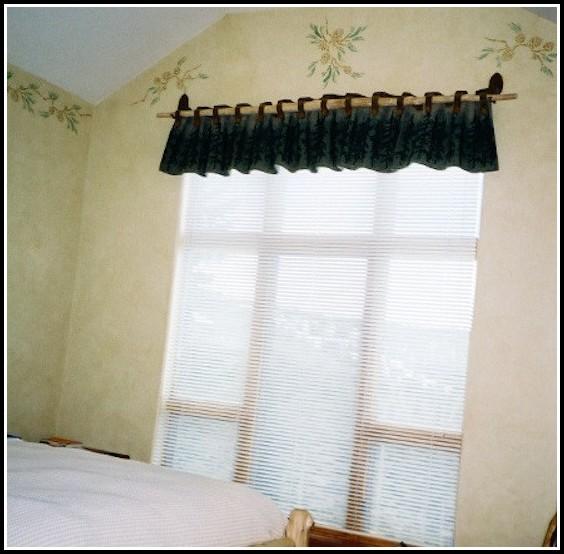 Black Wooden Curtain Rod Brackets