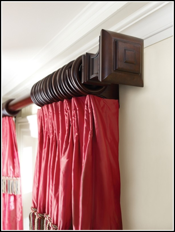 Black Wooden Curtain Rods
