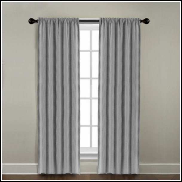 Double Rod Pocket Door Curtains