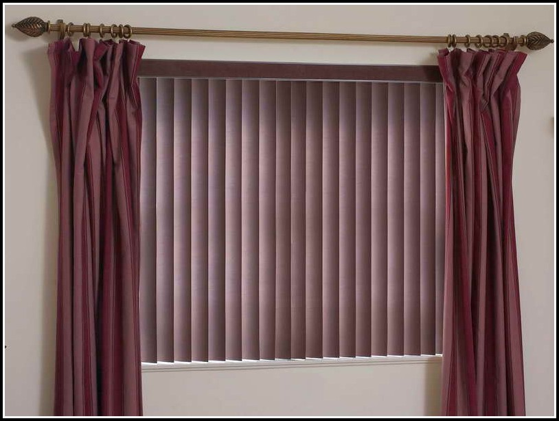 Hang Curtains Over Wood Blinds