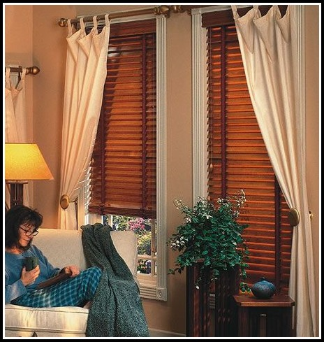 Hanging Curtains With Wood Blinds