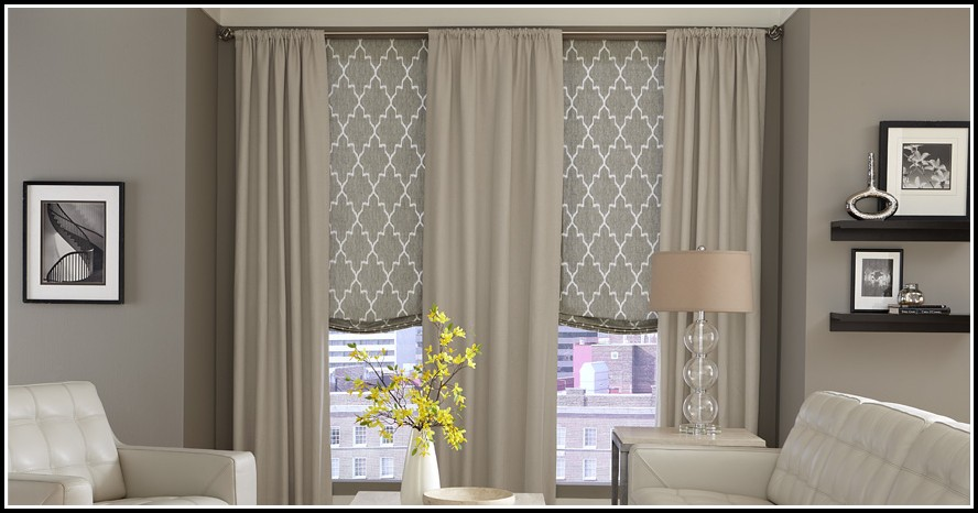 How To Hang Curtains With Roman Shades